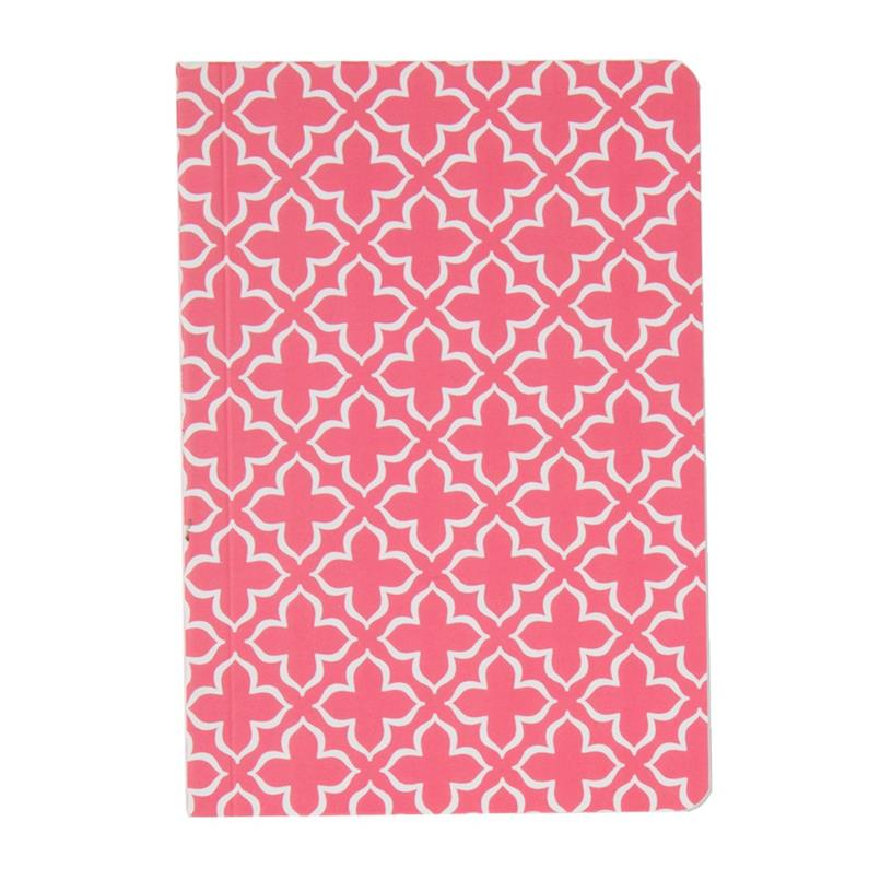 Moroccan Geometrics Pocket Notebook Red
