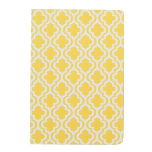Moroccan Geometrics Pocket Notebook Yellow
