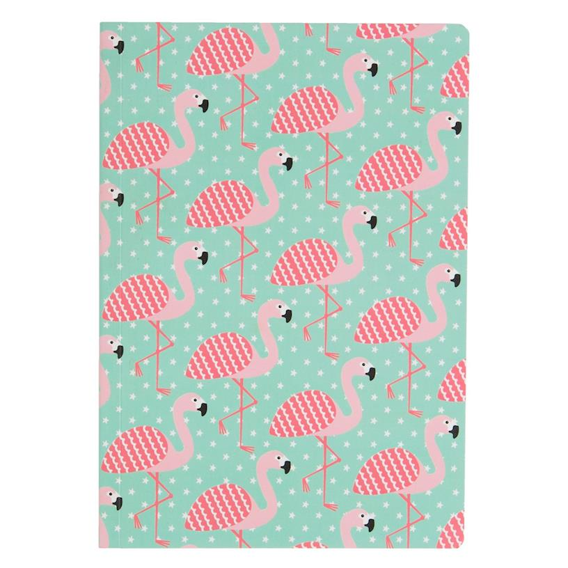Tropical Summer Flamingo A5 Notebook