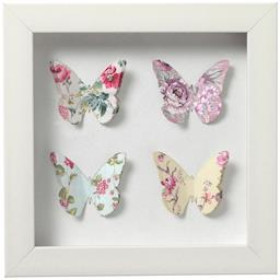 Framed paper art butterflies - mini