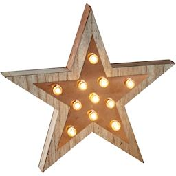 Retro illuminated star sign