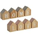 House shape HOME/LOVE letter blocks