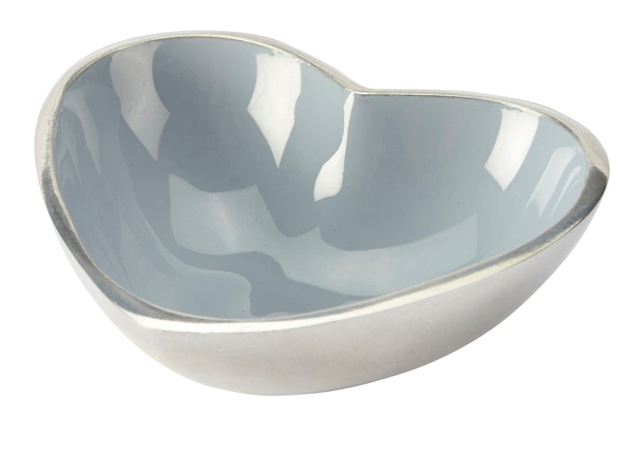 Orvieto enamelled aluminium heart bowl blue 1