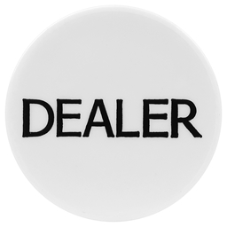High Quality White Dealer Button