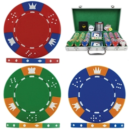 Crown & Dice Chips with Set