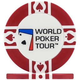 WPT World Poker Tour Poker Chips - red