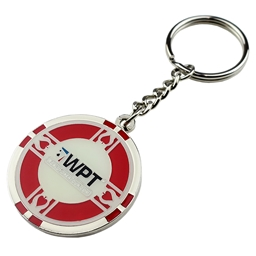 WPT Red Metal Poker Chip Keyring
