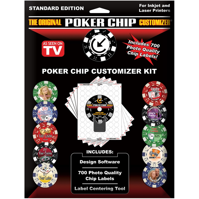 The Original Poker Chip Customizer Kit