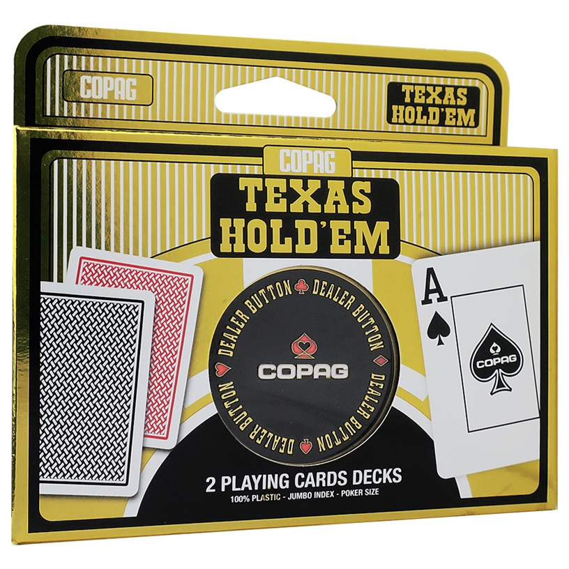 COPAG Gold Texas Hold'em Dual Pack Playing Cards