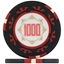Three Colour Crown Poker Chips - Black 1000