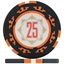 Three Colour Crown Poker Chips - Black 25
