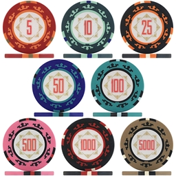 Three Colour Crown Poker Chip Sample Pack