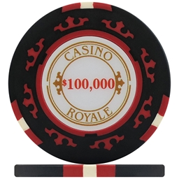 Casino Royale Poker Chips - Black $100,000