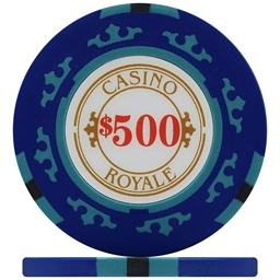 Casino Royale Poker Chips - Blue $500