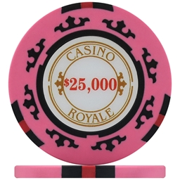 Casino Royale Poker Chips - Pink $25,000