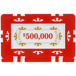 Casino Royale Plaques - Red $500,000