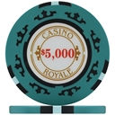 Casino Royale Poker Chips - Teal $5,000