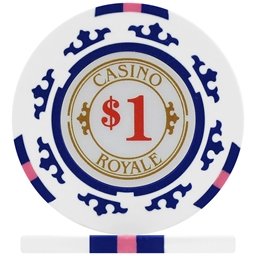 Casino Royale Poker Chips - White $1