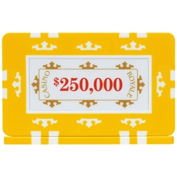 Casino Royale Plaques - Yellow $250,000