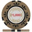 Casino Royale Poker Chips - Beige $1,000