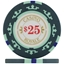 Casino Royale Poker Chips - Green $25