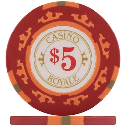Casino Royale Poker Chips - Red $5