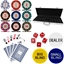 Three Colour Crown 500 Piece 14g Poker Chip Set