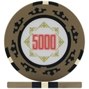 Three Colour Crown Poker Chips - Beige 5000