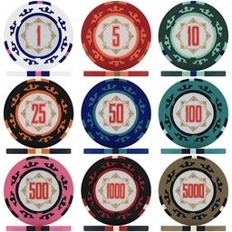 Three Colour Crown 14g Poker Chips & Sets