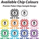 8 Stripe Custom Poker Chip Sample