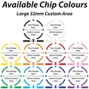 Available Colours 8 Stripe Custom Poker Chips