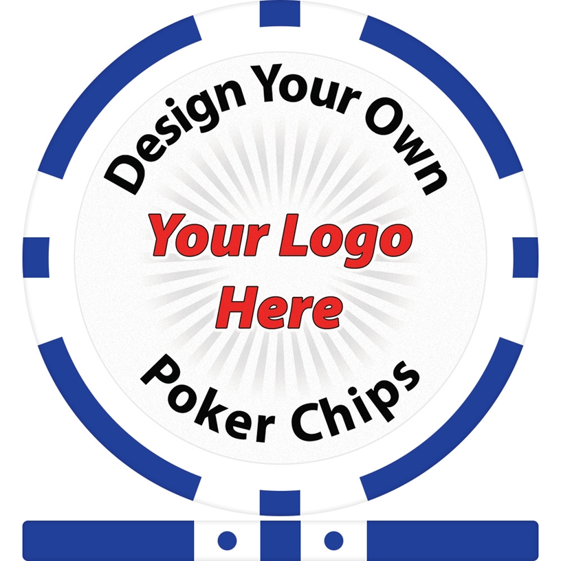 Design Your Own 8 Stripe Custom Poker Chip