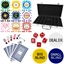 Metallic Print High Quality 300 Piece, 8 Stripe 14g Custom Poker Chip Set