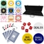 Metallic Print High Quality 500 Piece, 8 Stripe 14g Custom Poker Chip Set