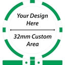 32mm Custom Area Solid Colour Custom Poker Chips