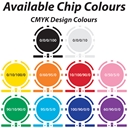 Available Colours - 8 Stripe Custom Poker Chips
