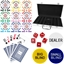 High Quality 300 Piece, 8 Stripe 14g Custom Poker Chip Set