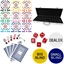 High Quality 500 Piece, 8 Stripe 14g Custom Poker Chip Set