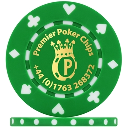 Custom Hot Foil Suited Poker Chip Example