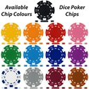 UV Dice Custom Poker Chip Available Colours
