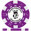 UV Dice Custom Poker Chips Gloss Double Sided Print
