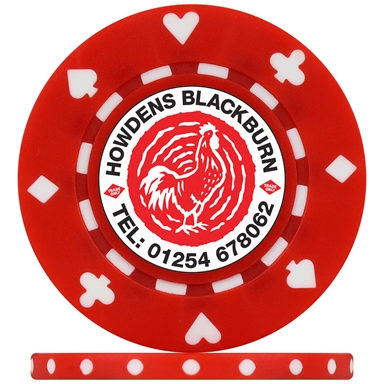 Promotional Printed Suited Custom Poker Chips