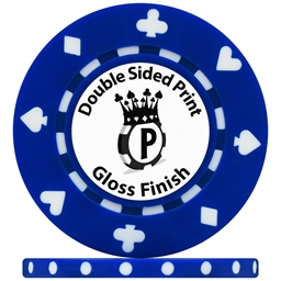 UV Suited Custom Poker Chips Gloss Double Sided Print