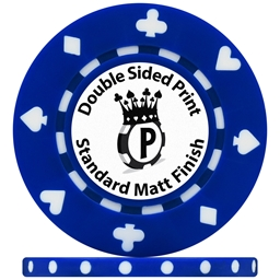 UV Suited Custom Poker Chips Matt Double Sided Print