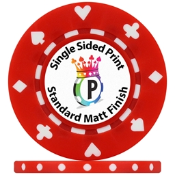 UV Suited Custom Poker Chips Matt Single Side Print