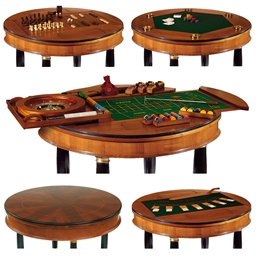 Dal Negro Luxury Large Round Multiple Games Table