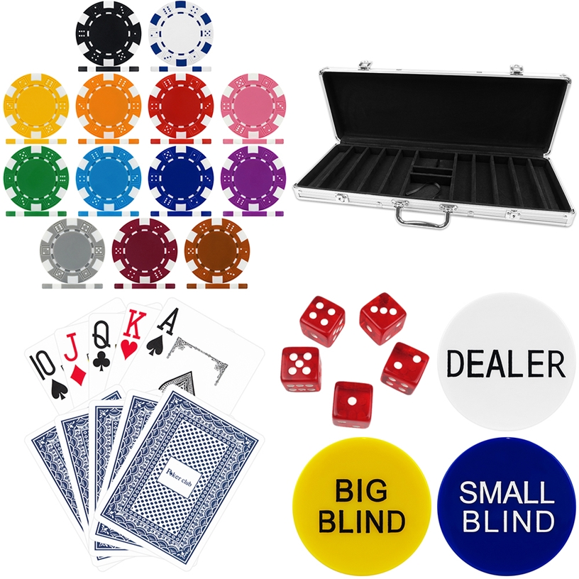 High Quality 500 Piece Dice Poker Chip Set