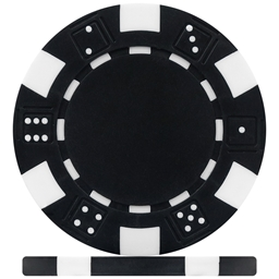 High Quality Black Dice Poker Chips
