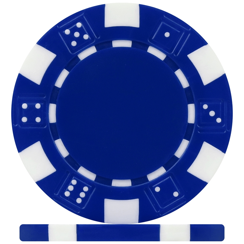 High Quality Blue Dice Poker Chips