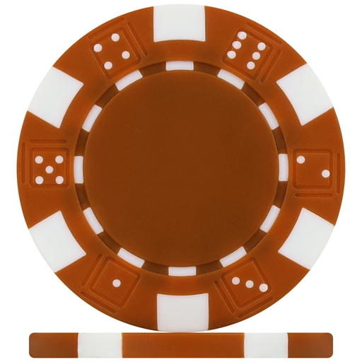 High Quality Brown Dice Poker Chips